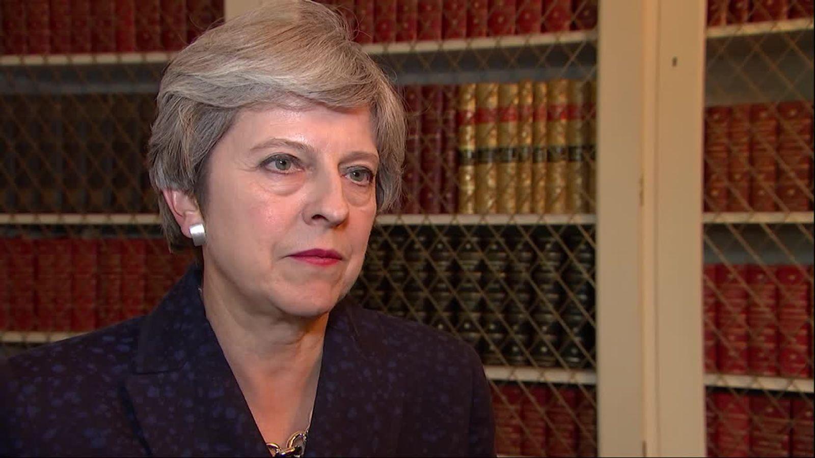 Theresa May answers UK criticism over hurricane Irma