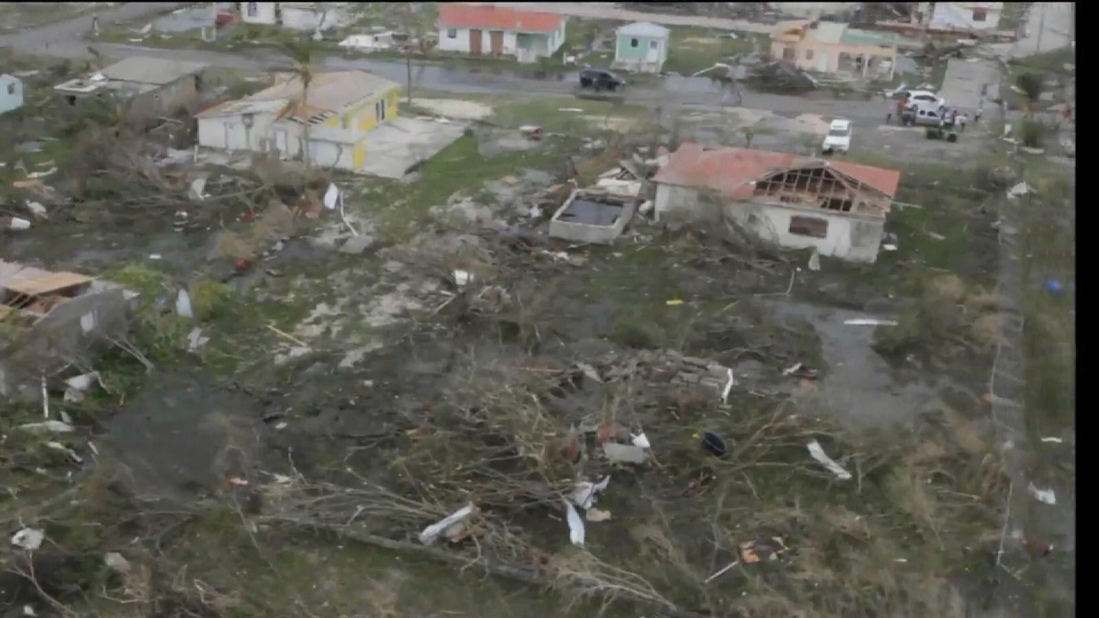 Aerials show the extent of the destruction on Barbuda