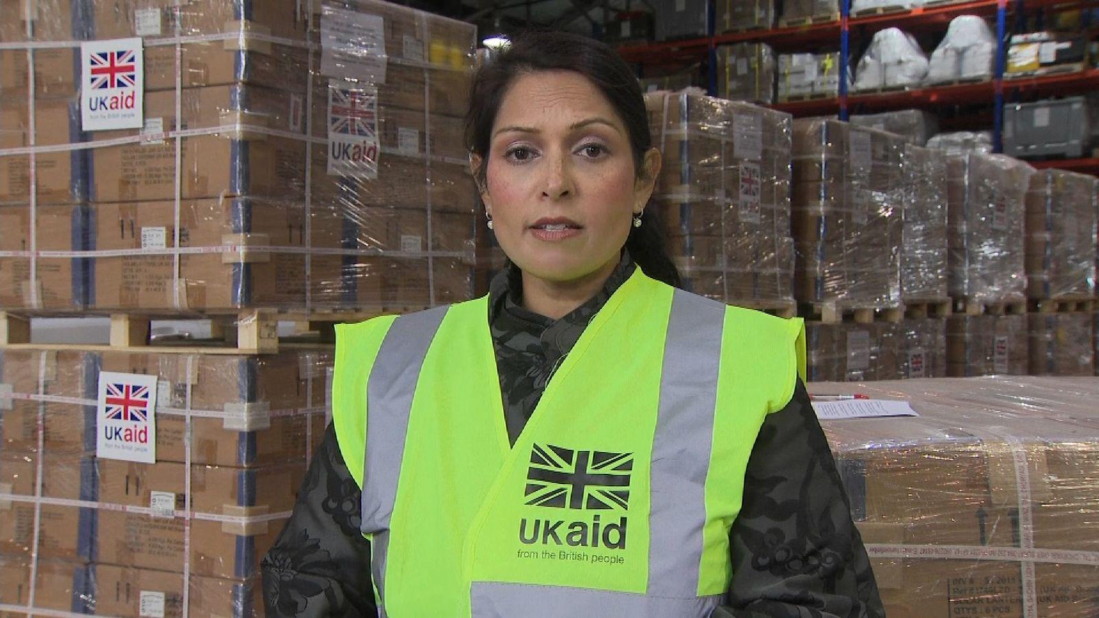 International Development Secretary Priti Patel dicsusses the UK's response to Hurricane Irma