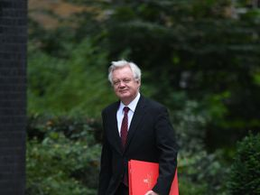 David Davis arrives in Downing Street for Cabinet following the summer break