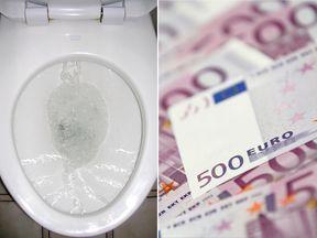 Euros and a toilet