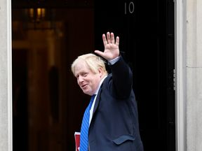 Boris Johnson arrives at Downing Street