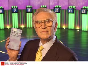 Fifteen to One quiz show host William G Stewart. Pic: FremantleMedia Ltd/REX/Shutterstock