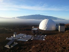 The research team lived in a geodesic dome on a volcano. Pic: University of Hawaii/HI-SEAS