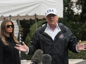 President Trump spoke to reporters as he set out for Florida