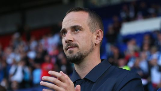 Mark Sampson attended the women's world cup qualifier with Russia on September 19