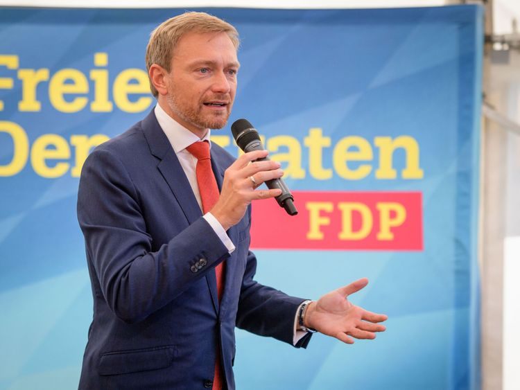 Christian Lindner, leader of Germany's free democratic FDP party
