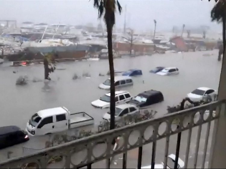 Damage caused by Hurricane Irma in French Antilles