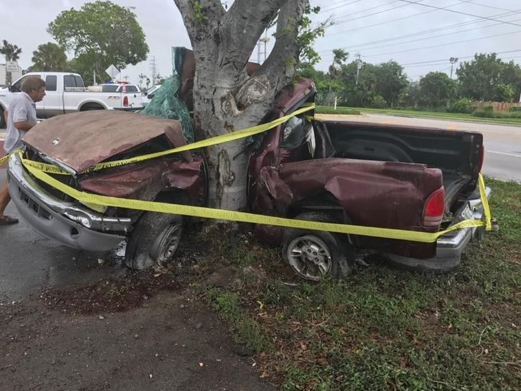 One man died in a truck crash as Irma approached. Pic: Monroe County Sheriff's Office