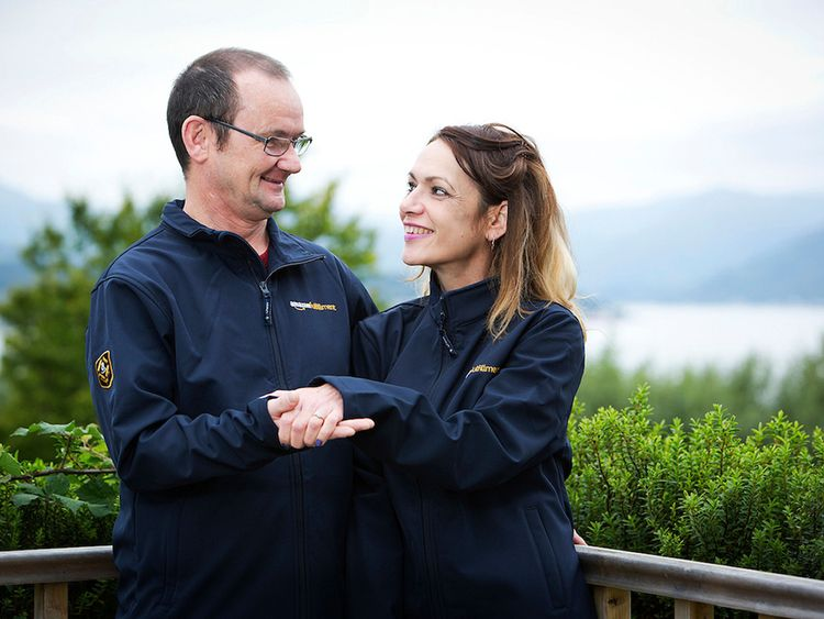 The couple met while working at the Amazon plant in Gourock, near Glasgow