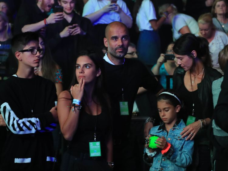 Manchester City manager Pep Guardiola was at the show