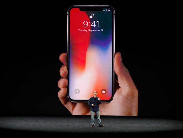 Apple Senior Vice President Phil Schiller introduces the iPhone X
