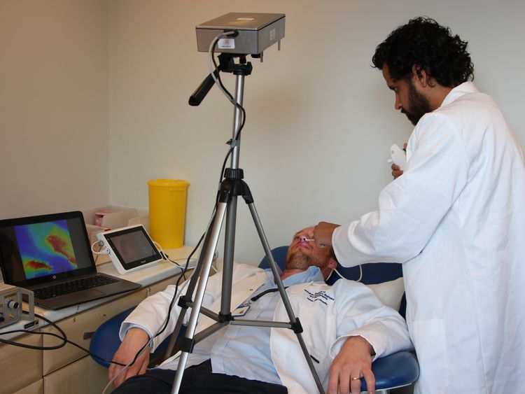 The camera can precisely track the location of the endoscope. Pic: University of Edinburgh