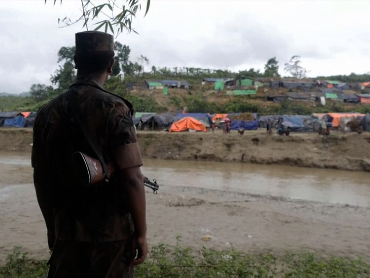 Guards are stopping the Rohingya from entering Bangladesh