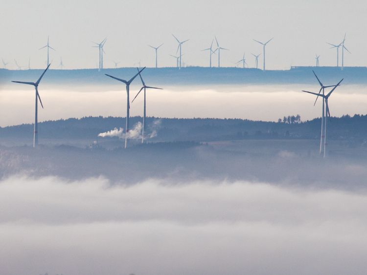 A wind farm in Germany