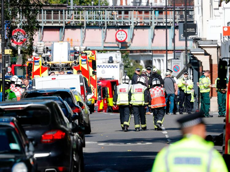 Scene after terror attack in west London