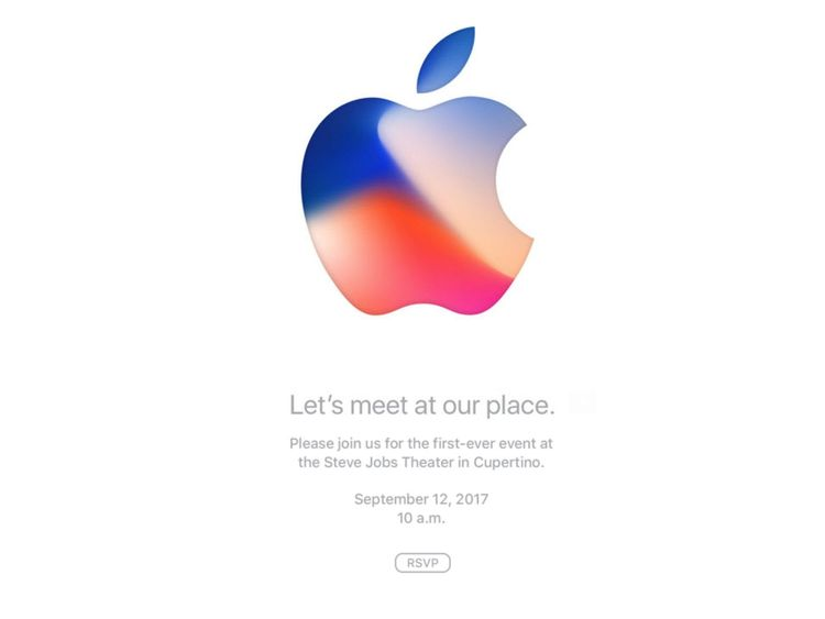 An invite being sent for the launch event