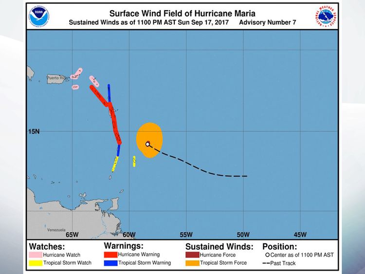 Maria May Be Puerto Rico's Worst Storm in 90 Years