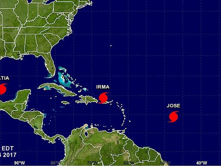Two other hurricanes have formed in the same region Pic: NOAA
