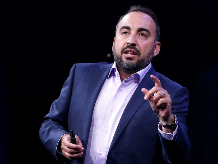 Facebook Chief Security Officer Alex Stamos gives a keynote address during the Black Hat information security conference in Las Vegas Nevada