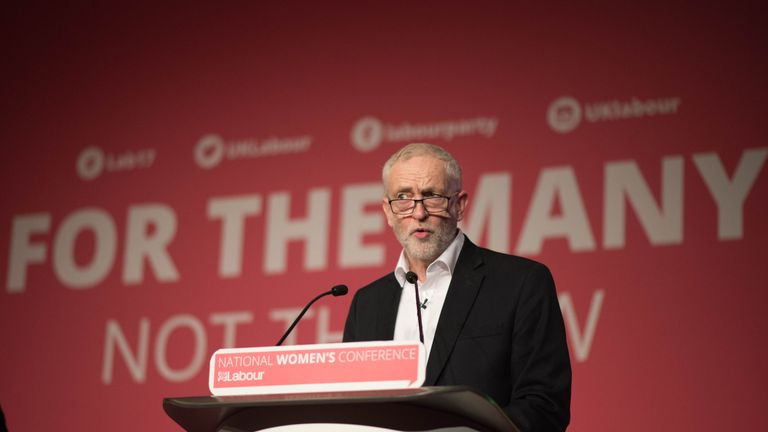 Labour leader Jeremy Corbyn speaking at the Women's Conference in the Hilton Hotel, Brighton ahead of his party's annual conference. PRESS ASSOCIATION Photo. Picture date: Saturday September 23, 2017. See PA story LABOUR Main. Photo credit should read: Stefan Rousseau/PA Wire