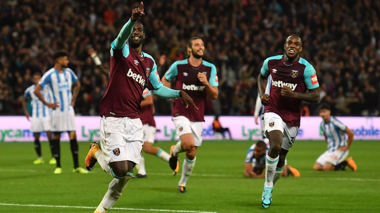 Watch highlights from West Ham's win over Huddersfield