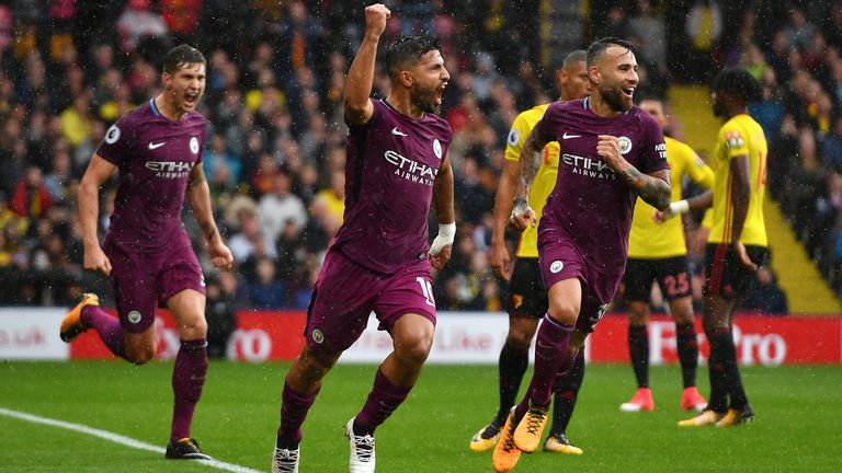 Image result for aguero watford 0-6 man city