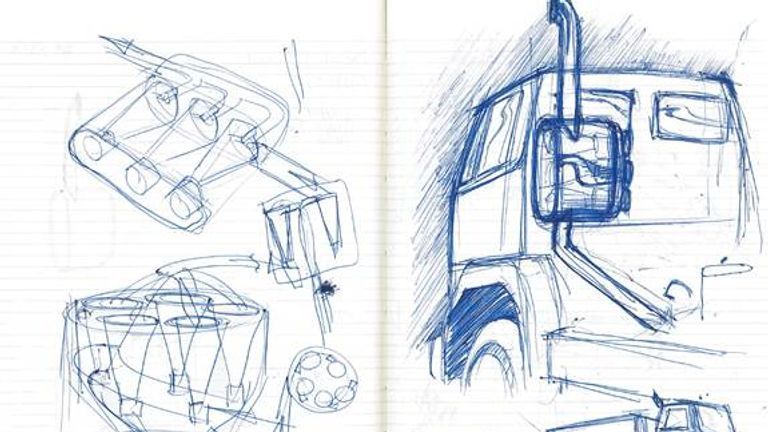 A drawing from James Dyson's email to the company
