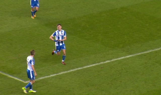 Wigan's Ryan Colclough scores twice before rushing to son's