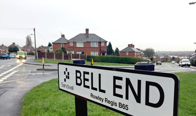 Bell end residents launch petition to change rude street name people living in the street in rowley regis in sandwell west midlands argue it is one of the rudest street names in the country with some saying it could sciox Gallery