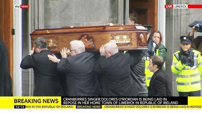 Coffin of Dolores O'Riordan
