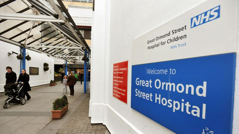 Great Ormond Street Hospital sign