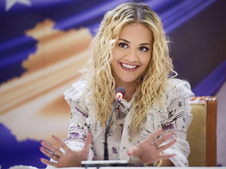 Rita Ora jets to Kosovo for independence party