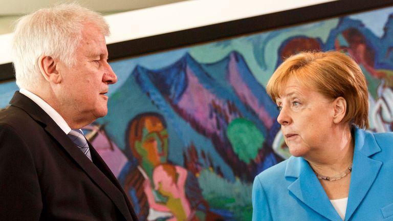 Angela Merkel risks being ousted as German leader by interior minister Horst Seehofer