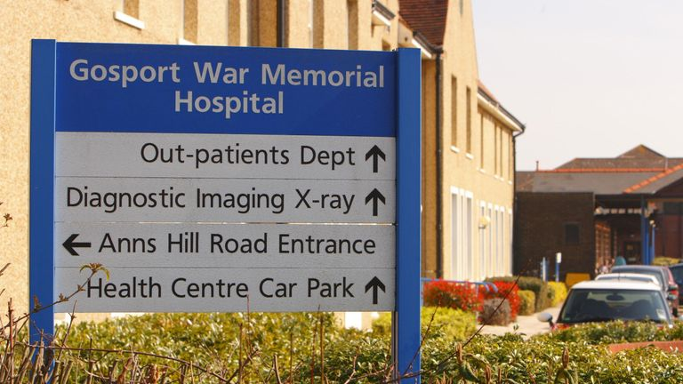 File photo dated 20/03/09 of the Gosport War Memorial Hospital in Gosport, Hampshire. A…