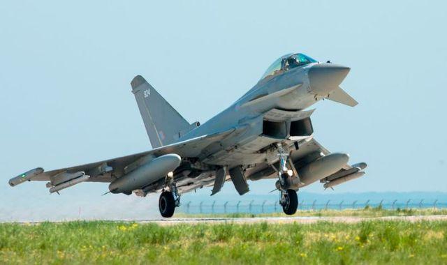 RAF Typhoons sent to intercept Russian bomber plane over
