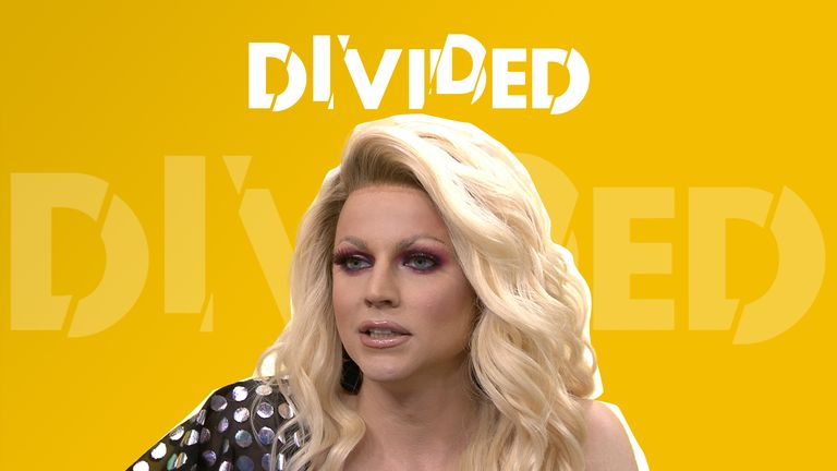 Courtney Act spoke with Sky News about how performing as a drag queen helped with working out their gender identity.