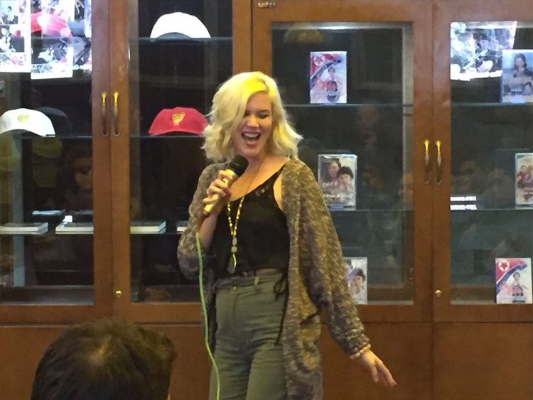 Joss Stone performs in bar in North Korea