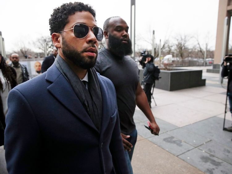 Empire actor pleads not guilty to 'staging racist attack'