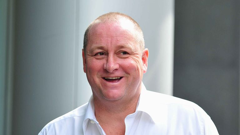 File photo dated 10/7/2017 of Sports Direct tycoon Mike Ashley