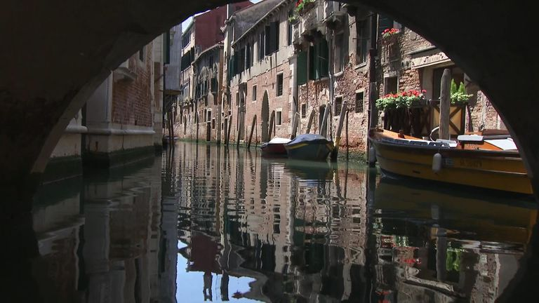 Locals say waves caused by heavy traffic on the canals and lagoon are damaged the foundations of the city's buildings