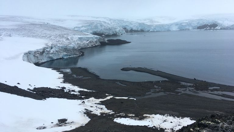 Antarctica's Collins glacier on King George Island has retreated in the last 10 years