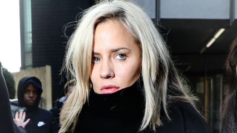 Caroline Flack leaves court