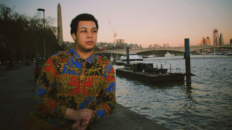 Sky's News reporter David Chipakupaku has explained what being pansexual means to him. Pic: Sophie Hogan