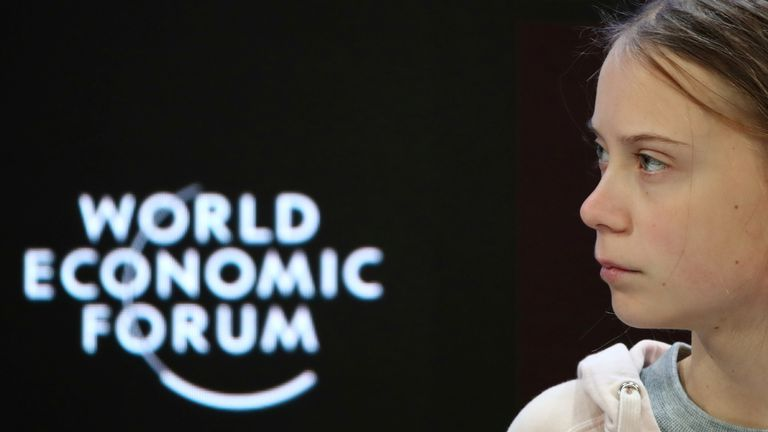 Greta Thunberg hit back at business and political leaders when giving her speech at Davos, saying insufficient action is being taken.