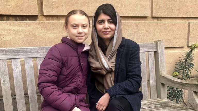 Thunberg, left, and Yousafzai both became global figures for their causes as teenagers