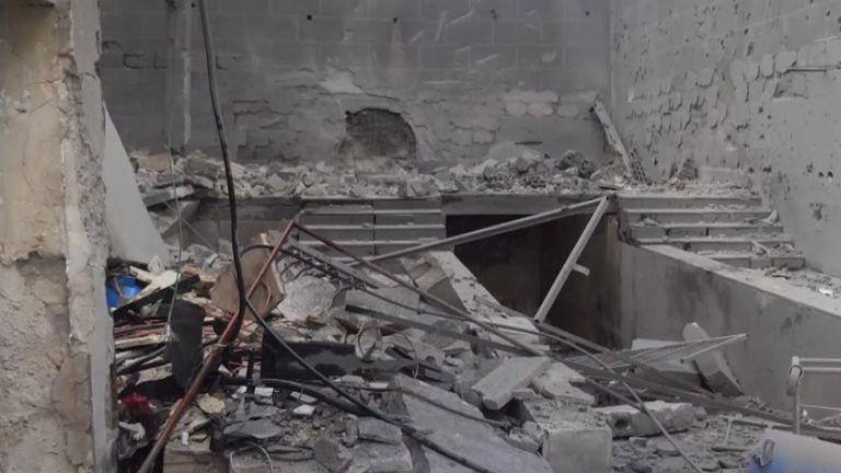 The Al Kimnana Hospital had been bombed