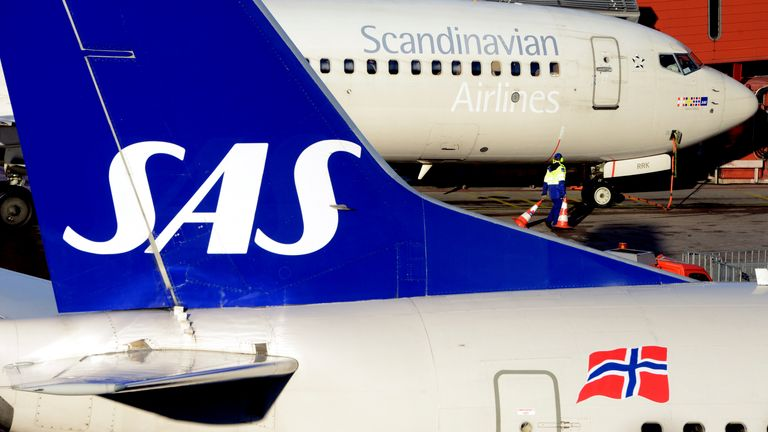 SAS is the carrier of Denmark, Norway and Sweden