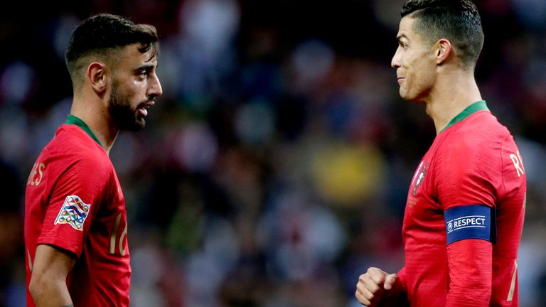Bruno Fernandes says Cristiano Ronaldo inspired his move to Manchester United