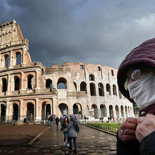 Rome 'eerily quiet' as lockdown begins